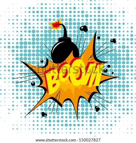 Bomb design over dotted  background vector illustration  - stock vector