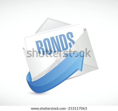 bonds email illustration design over a white background - stock vector