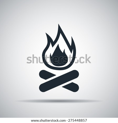 bonfire icon - stock vector