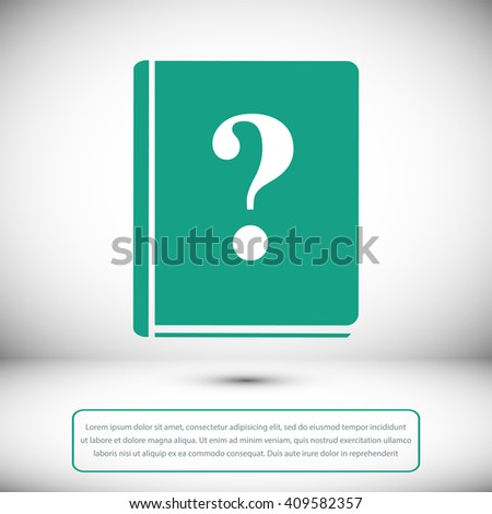 book and a question mark icon - stock vector