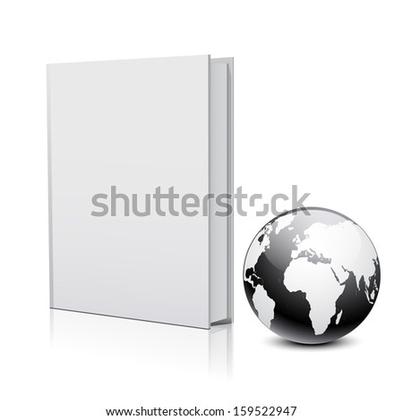 Book and globe - stock vector