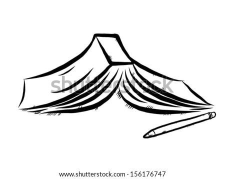 book and pencil / cartoon vector and illustration, hand drawn, sketch style, isolated on white background. - stock vector