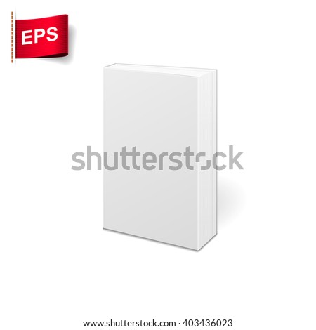 book blank cover - stock vector