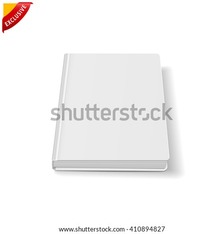 book blank cover, vector mock up book, isolated mockup book - stock vector