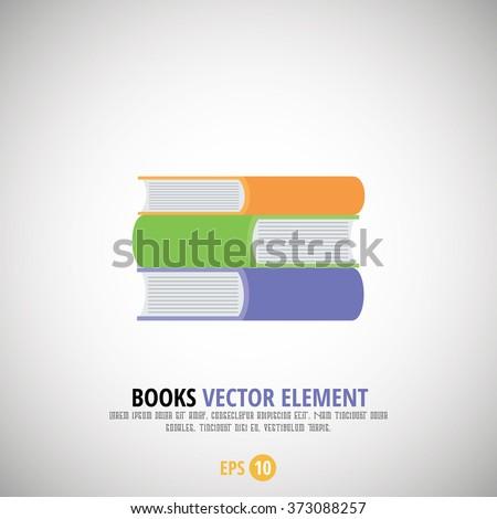 Book Collection Vector Element - stock vector