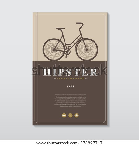 Book cover in vintage hipster style .Vector eps10 - stock vector