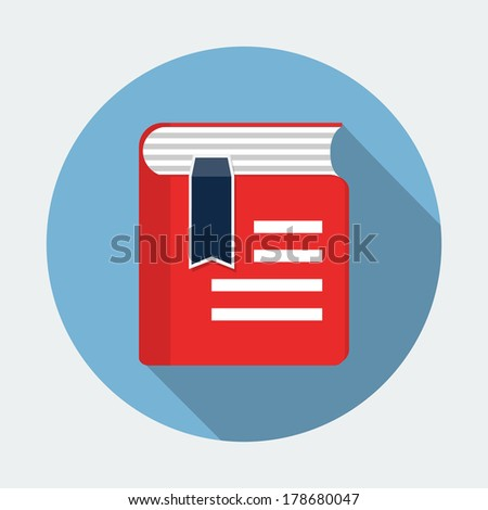 Book flat icon  - stock vector