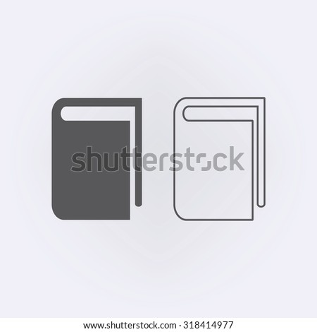 Book icon and book line icon . Vector illustration - stock vector