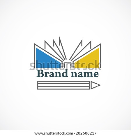 Book icon illustrated on the gray background - stock vector