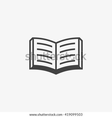 Book Icon in trendy flat style isolated on grey background. Book symbol for your web site design, logo, app, UI. Vector illustration, EPS10. - stock vector