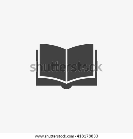 Book Icon in trendy flat style isolated on grey background. Education symbol for your web site design, logo, app, UI. Vector illustration, EPS10. - stock vector