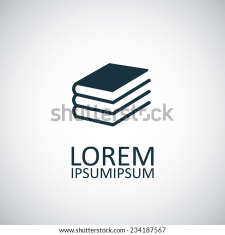 book icon on white background  - stock vector