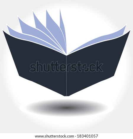 book icon. vector illustration - stock vector