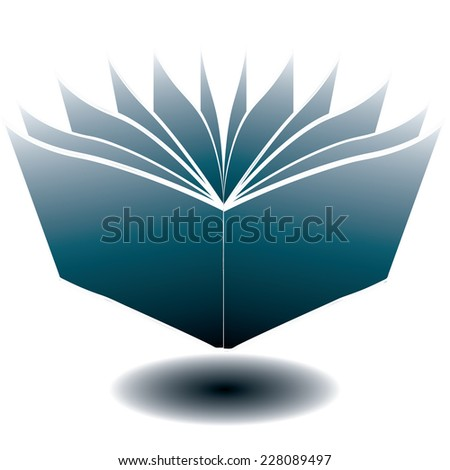 book icon. vector illustration - stock vector