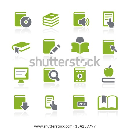 Book Icons // Natura Series - stock vector