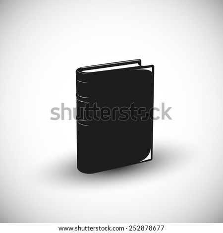 Book illustration - 3d view design. - stock vector