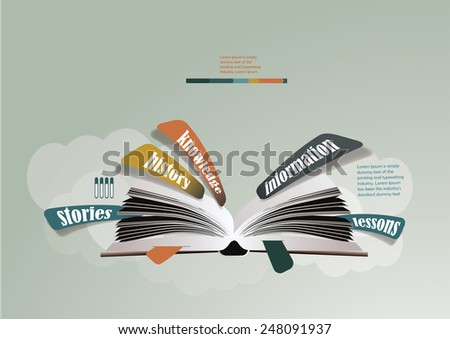 book infographic for education - stock vector