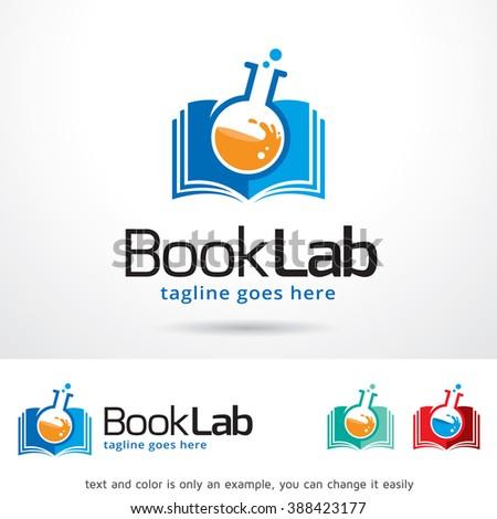 Book Lab Logo Template Design Vector - stock vector