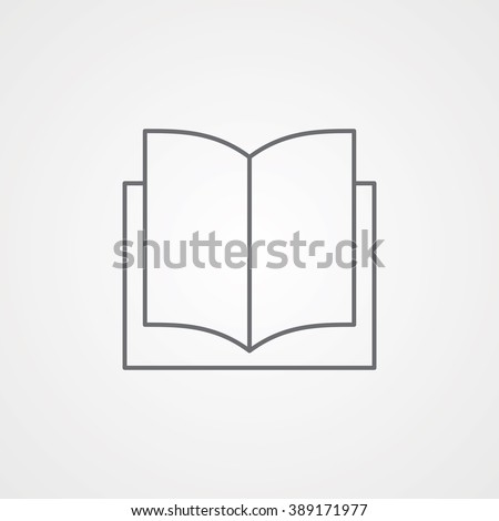 Book Line Icon. Eps-10. - stock vector