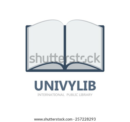 Book logo or symbol icon - stock vector