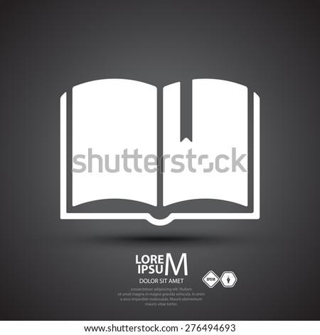 Book logo, vector illustration - stock vector