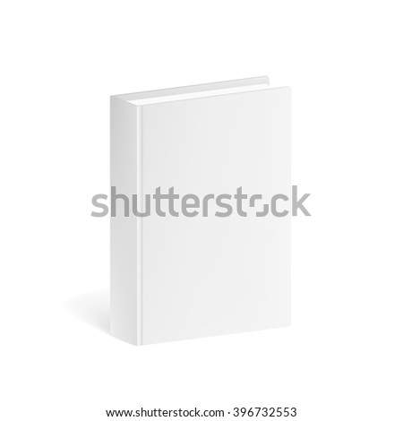 Book Mockup isolated on a white background. Book Mockup for corporate busines identity presentation. Book Mockup Isolated. Book Mockup 3D. Book Mockup for branding. Book Mockup  Illustration  - stock vector