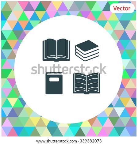 Book set vector icon. - stock vector