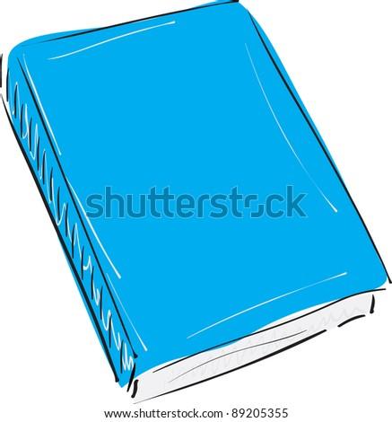 Book sketch vector illustration - stock vector