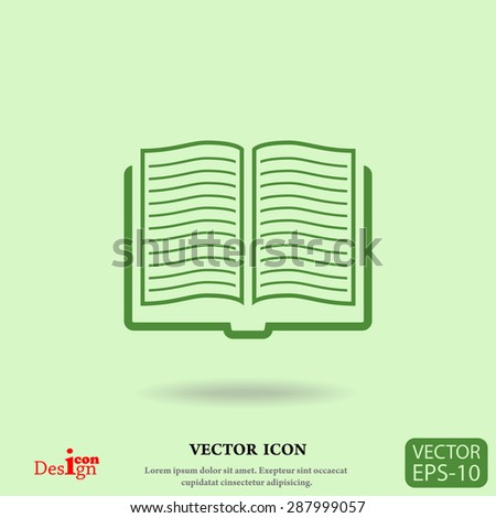 book vector icon - stock vector