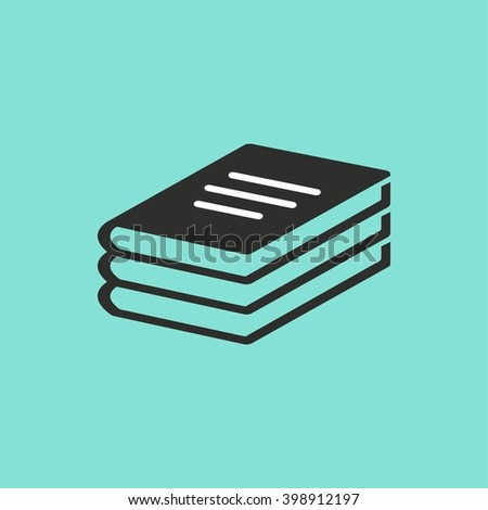 Book    vector icon. Illustration isolated on green  background for graphic and web design. - stock vector
