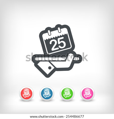 Booking icon - stock vector