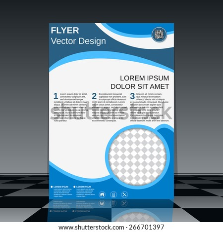 Booklet vector design. Flyer, brochure cover, poster template. - stock vector