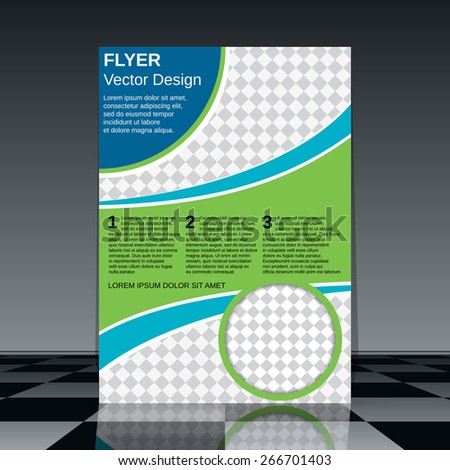Booklet vector design. Flyer, brochure cover, poster template. - stock vector