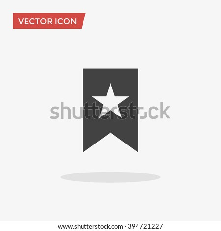 Bookmark Icon in trendy flat style isolated on grey background, for your web site design, app, logo, UI. Vector illustration, EPS10. - stock vector