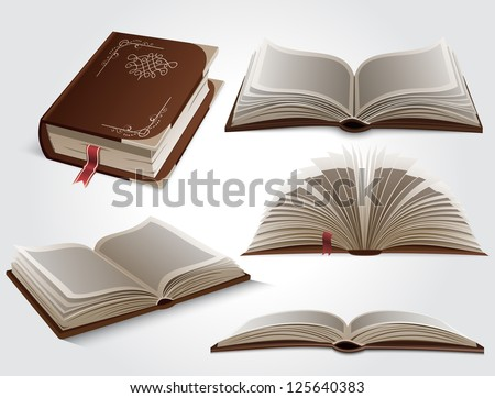 Books - stock vector