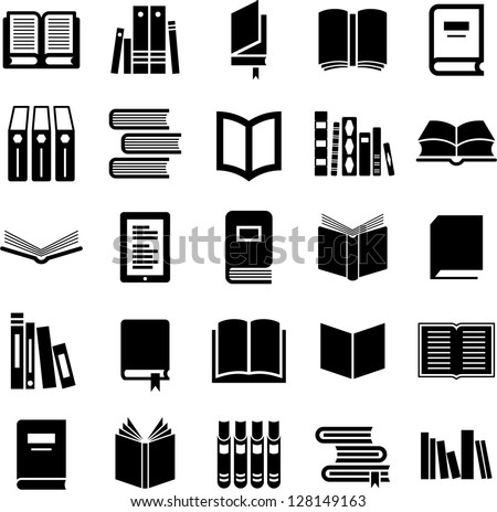 Books icons - stock vector