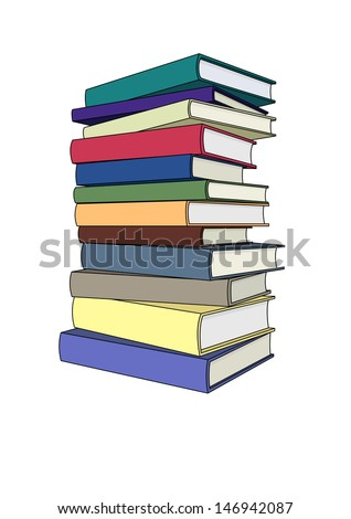 Books in color - stock vector