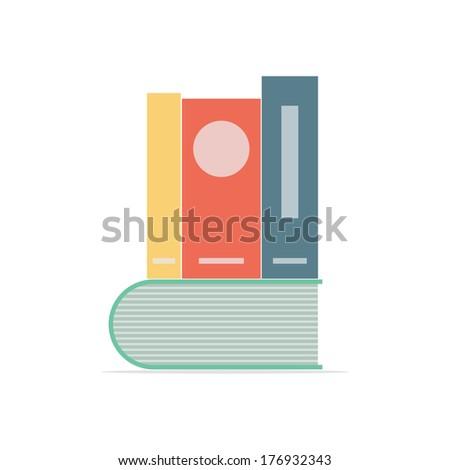 Books stack. Flat design. Vector illustration - stock vector