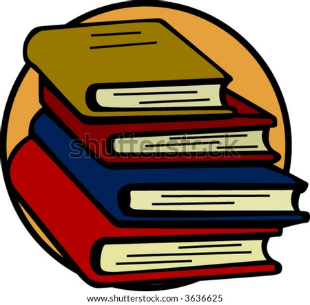 books tower - stock vector