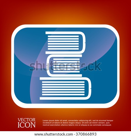 Books tower icon. Education sign - stock vector