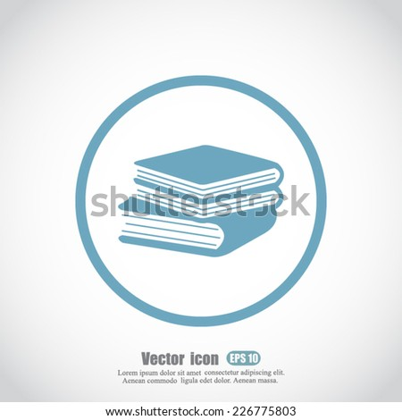 books vector icon - stock vector