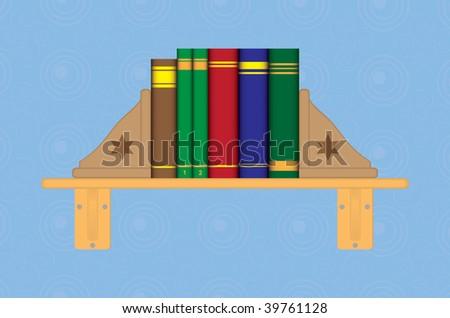 bookshelf - stock vector