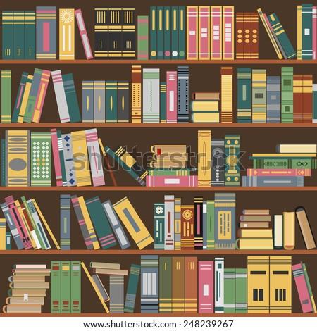 Library background image cartoon