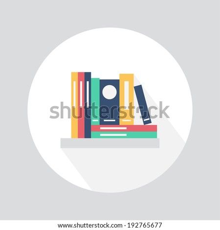 Bookshelf. Flat design. Vector illustration - stock vector