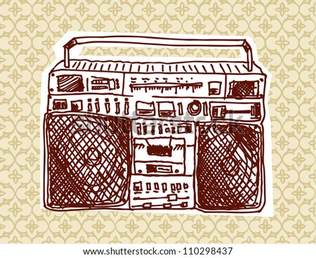 Boom Box - stock vector