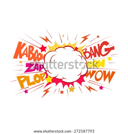 Boom. Comic book explosion.hand draw vector illustration - stock vector