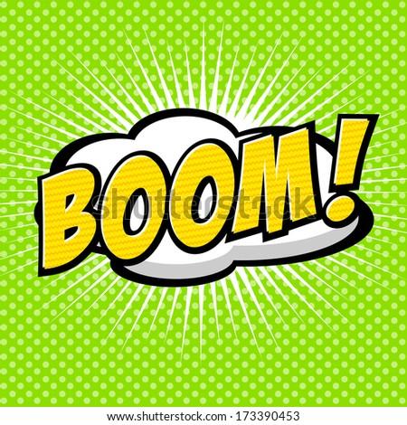 Boom! - Comic Speech Bubble, Cartoon  - stock vector