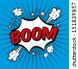boom comics icon over blue background vector illustration   - stock vector