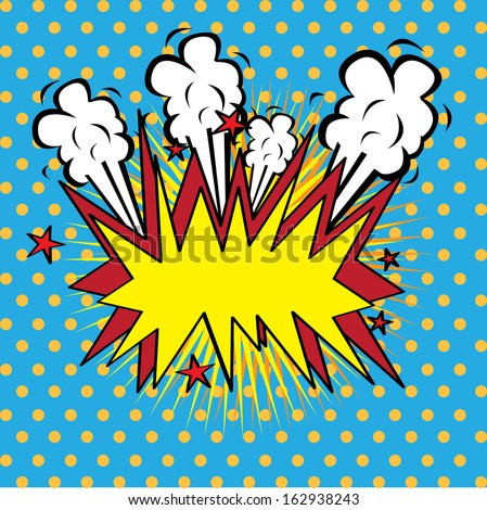 boom comics icon over dotted background vector illustration    - stock vector