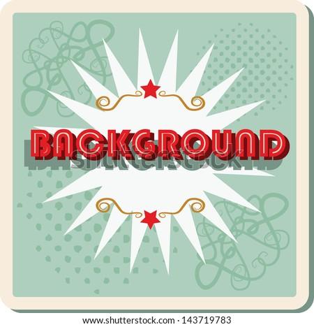 Boom pop art cloud on a vintage dot grunge background sticker word background - stock vector